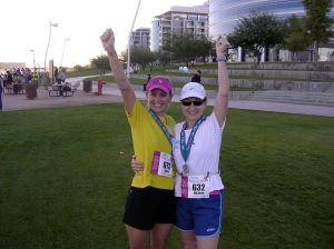 Lynn and Michele just after we finished