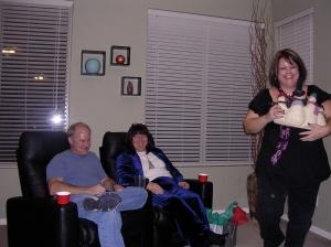 Kathleen stealing a gift