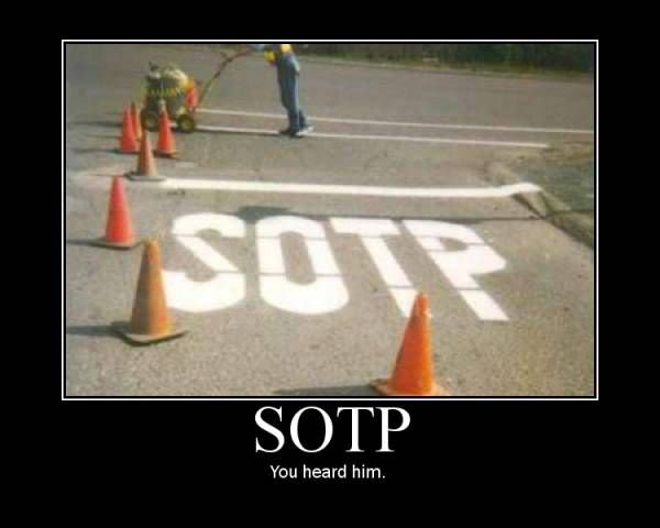 It's funny though, this is an abbreviation used with writers: Seat of The Pants writer.  LOL