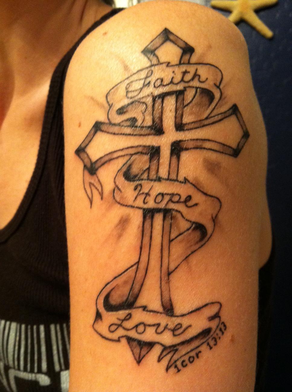 The 25+ best Faith hope love tattoo ideas on Pinterest ... |Faith Hope Love Tattoo For Men